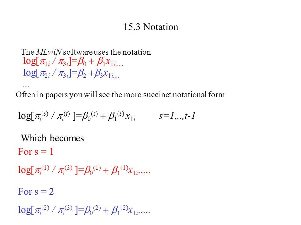 log[i(s) / i(t) ]=b0(s) + b1(s) x1i s=1,..,t-1